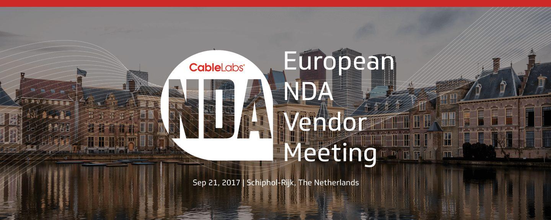 European NDA Vendor Meeting September 2017
