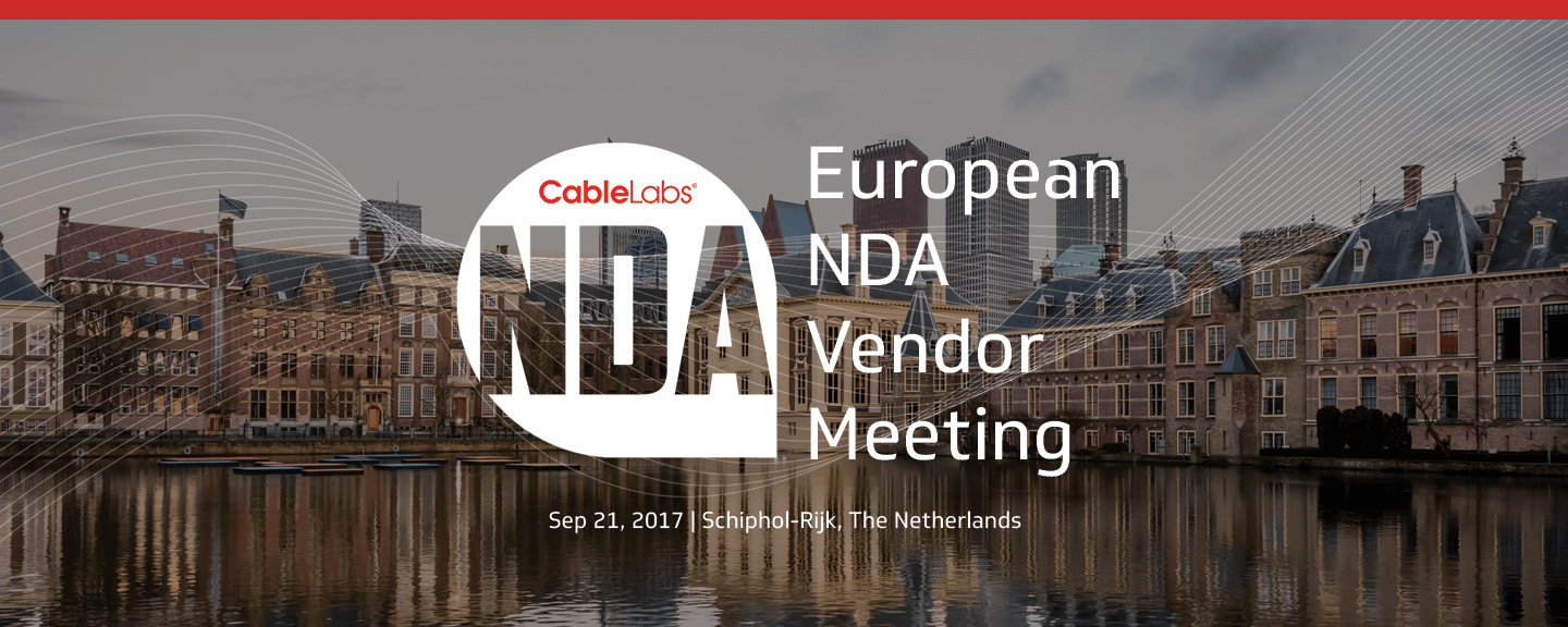 European NDA Vendor Meeting September 2017