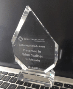 Brian Scriber Open Connectivity Foundation Award