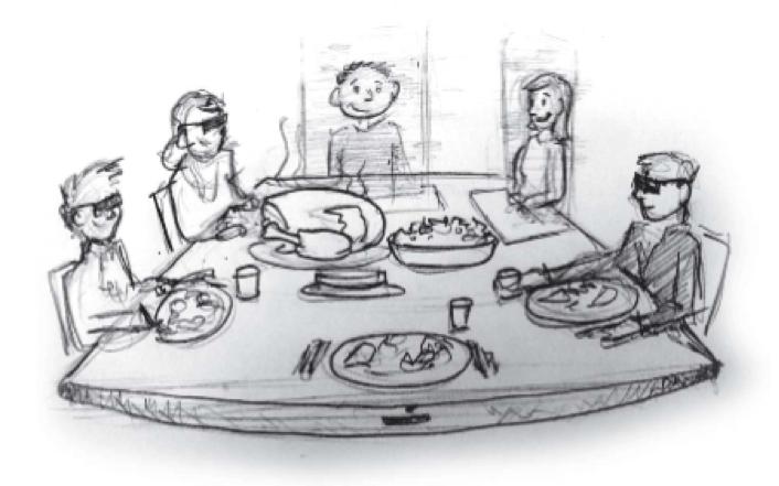 新兴技术时间表:虚拟家庭晚餐